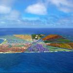 Мусорный остров в океане