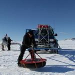 Аэросани разведчик в Антарктиде