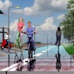 Солнечные панели под велосипедными дорожками