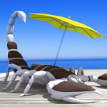 Шезлонг в виде скорпиона