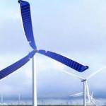 Солнечные панели на лопастях ветряного генератора
