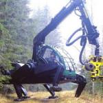 Plusjack — лесной шагающий харвестер