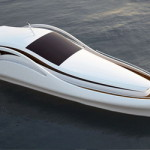 Шикарная белая яхта Speedline