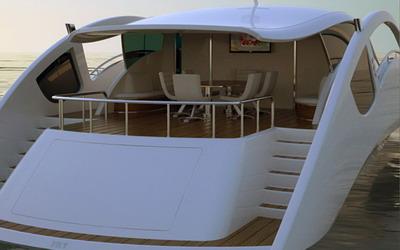 Белая яхта Speedline
