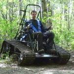 Ripchair — гусеничная машина для инвалидов