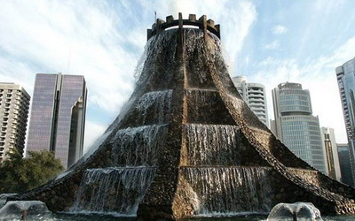 Вулканический фонтан - самый красивый фонтан в мире