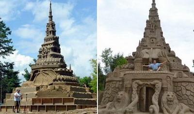 самый большой замок из песка