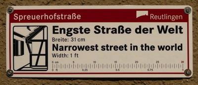 Spreuerhofstrasse - самая узкая улица в мире