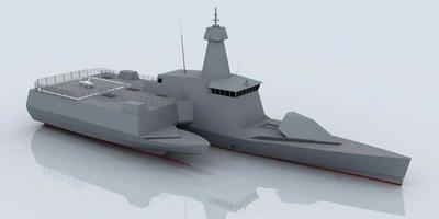 Корабль ассиметричной конструкции проекта Combattante SWAO 53