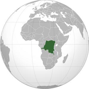 ДР Конго на карте мира