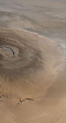 Гора Олимп на Марсе - самая большая гора Солнечной системы