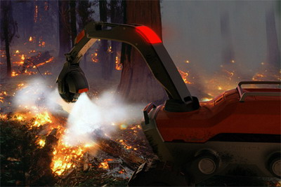 Робот для тушения лесных пожаров AFG