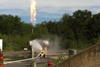 Пожарная техника Thermite в действии