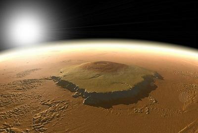 7-ми километровые склоны на горе Олимп (на Марсе)