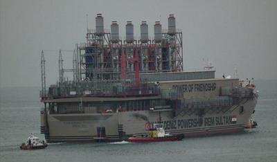 Плавающие электростанции Powership