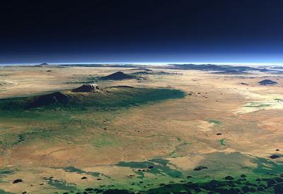 Килиманджаро - (вид из космоса)