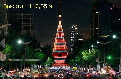 В Мехико самая большая искусственная елка в мире