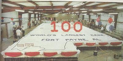 Штат Алабама -  огромный торт весом 58 тонн