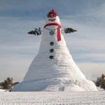 Самый большой снеговик в мире