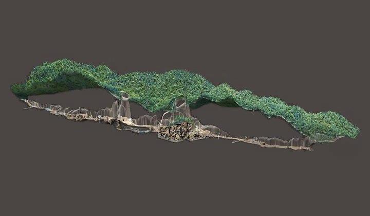 3D карта пещеры Шондонг