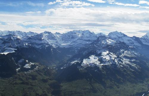 Вид с верхней точки горы