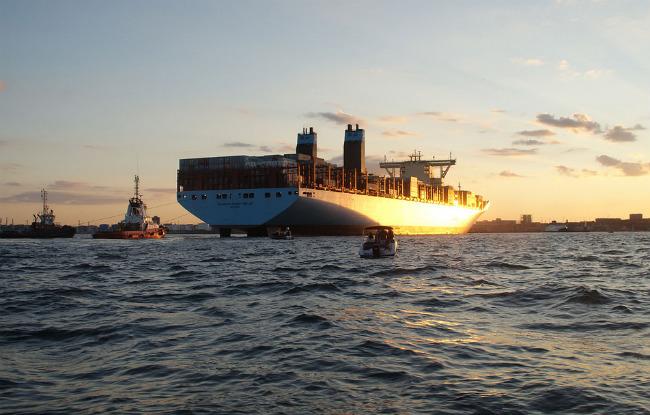 Mærsk Mc-Kinney Møller - самый большой корабль контейнеровоз