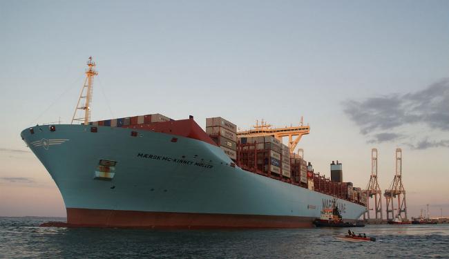 Mærsk Mc-Kinney Møller - самый крупный контейнеровоз в мире