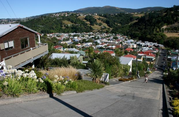 Baldwin Street (Новая Зеландия, г. Данидин)