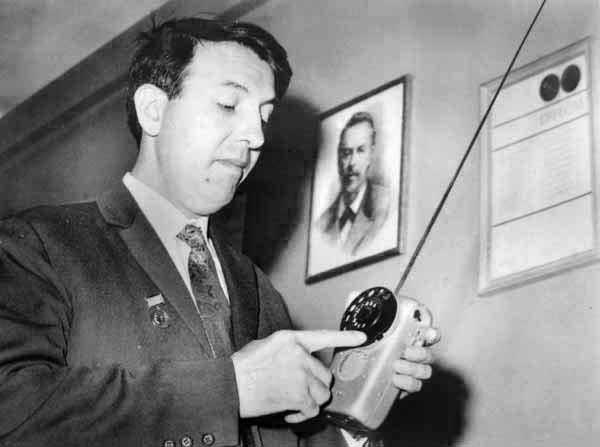 Христо Бачваров и его переносной телефон