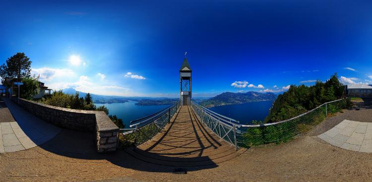 Панорама, открывающаяся с верхней точки лифта Хамметшванд