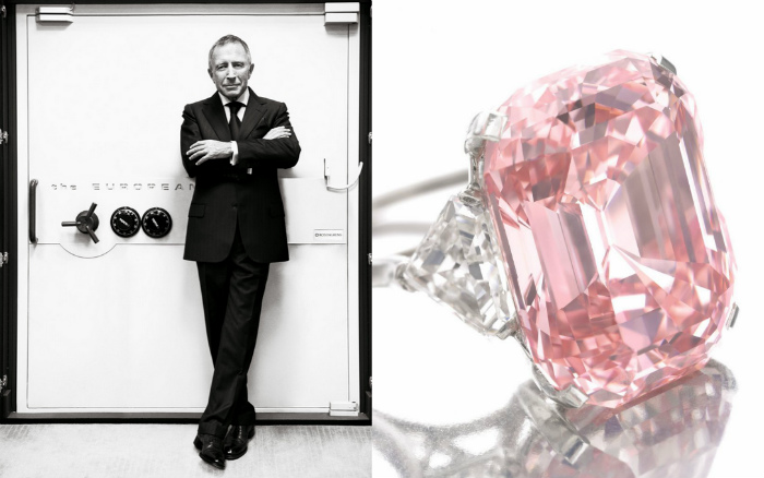 Миллиардер Лоренс Графф и его розовый алмаз Graff Pink, стоимостью 46 млн долларов